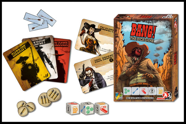 BANG! - The Dice Game: Spielmaterial