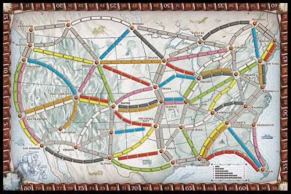 Spielplan - Zug um Zug