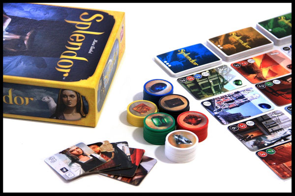 Splendor - Spielmaterial & Box