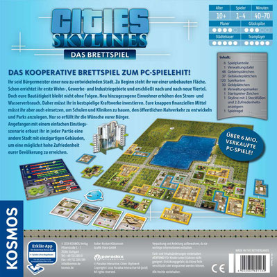 Cities Skyline - Rückseite