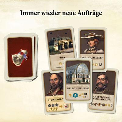 Anno 1800 - Das Brettspiel Auftragskarten
