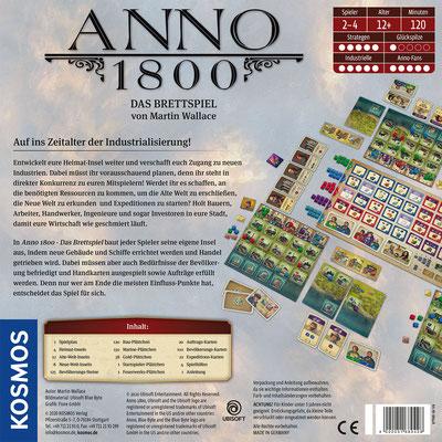 Anno 1800 - Das Brettspiel Box-Rückseite