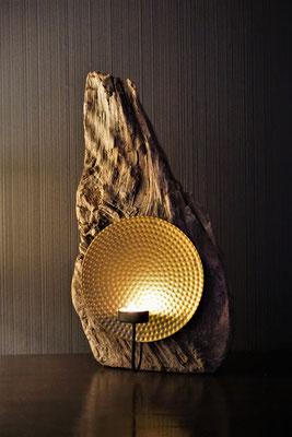 golden shine Teelichthalter 45x25cm