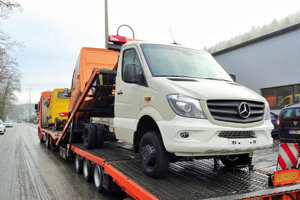 Anlieferung bei Ormocar Ende Januar 2017