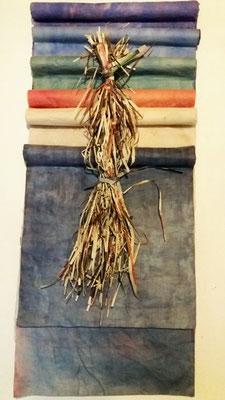 Mannen i kimono, rispapper och växtfärg, 85x35cm