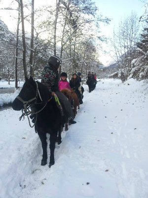Promenade dans la neige un samedi de janvier