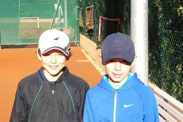 Matthieu et Alexander - Equipe 11/12 ans du TC Monaco