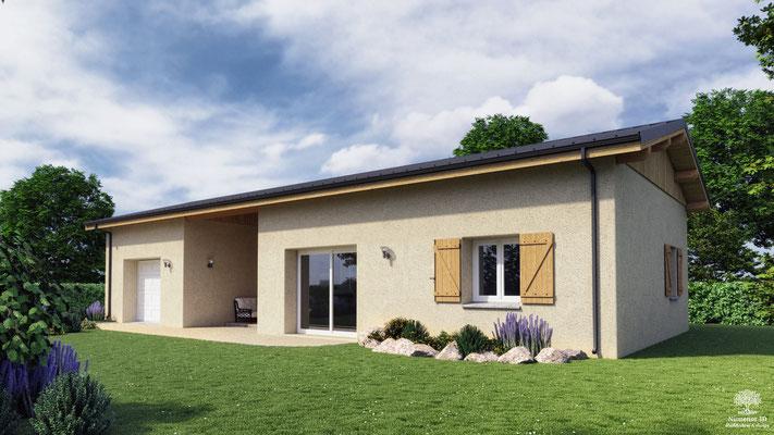 Visuel d'une maison paille pour un permis de construire dans le Lot prés de Cahors