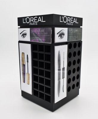 PLV de comptoir maquillage