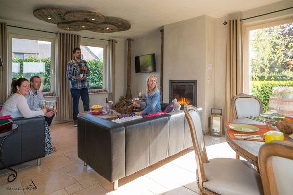 La Maison du Vivier, gîte 6 personen in Durbuy, Ardennen - Living
