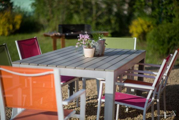 La Maison du Vivier, gîte 6 personnes à Durbuy - Terrasse et ensemble de jardin