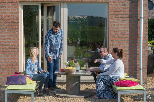 La Maison du Vivier, gîte 6 personen in Durbuy, Ardennen - Tuin en terras
