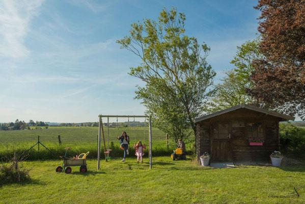 La Maison du Vivier, gîte 6 personnes à Durbuy - Vue sur les champs