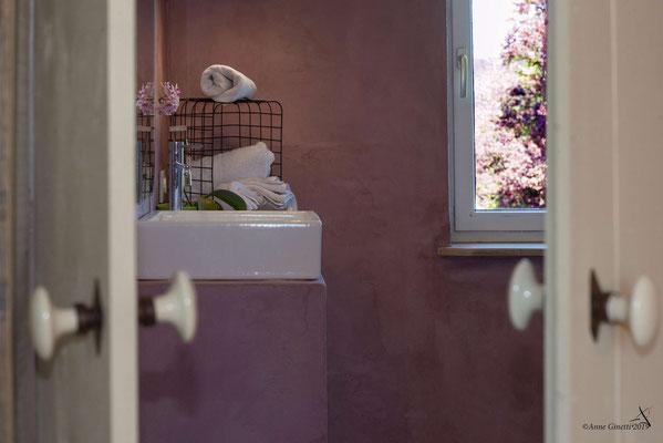 La Maison du Vivier, gîte 6 personen in Durbuy, Ardennen - Badkamer 2 met douche en lavabo