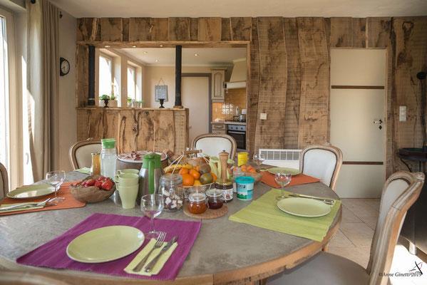 La Maison du Vivier, gîte 6 personnes à Durbuy - Cuisine ouverte - Petit déjeuner