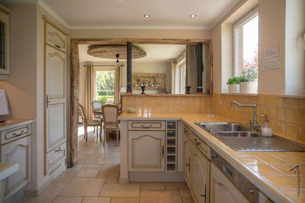 La Maison du Vivier, gîte 6 personen in Durbuy, Ardennen - Keuken en eetkamer