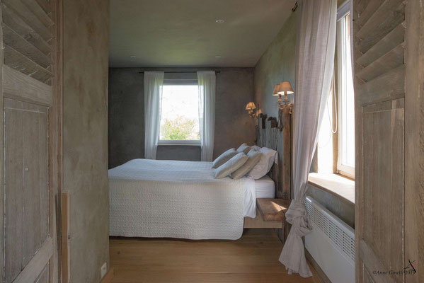 La Maison du Vivier, gîte 6 personen in Durbuy, Ardennen - Kamer 1 met tweepersonenbed