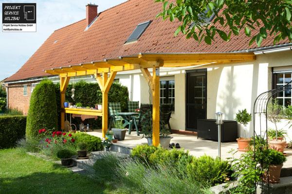 Terrassenüberdachung mit Verbundglas