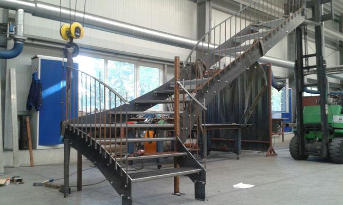 Fertigung Stahltreppe