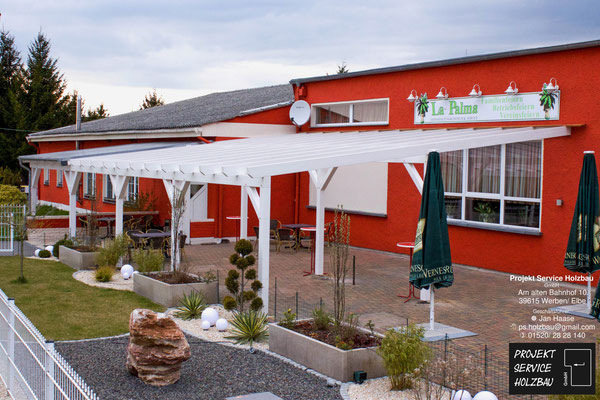 Überdachung Event- Gaststätte