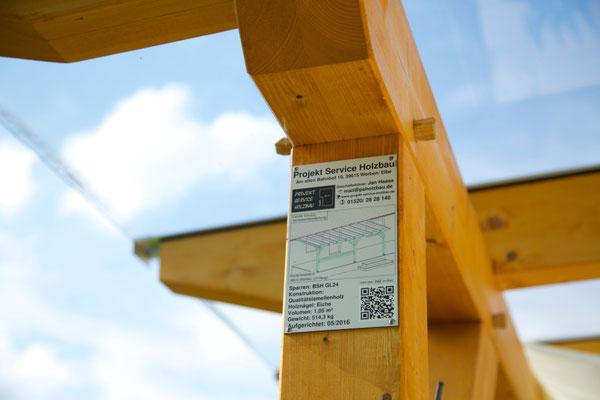 Werbeschild Holzbau