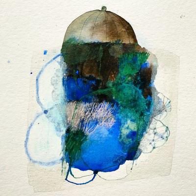 blaue Erde, Zeichnung, 2018