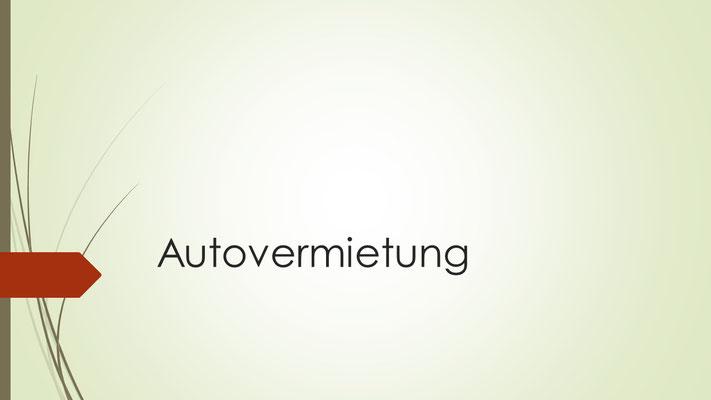 Rubrikenbild Autovermietung