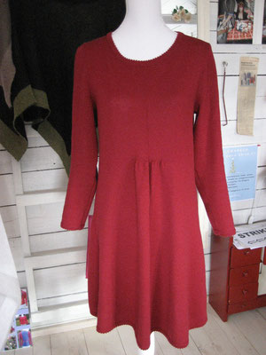 merino dress red