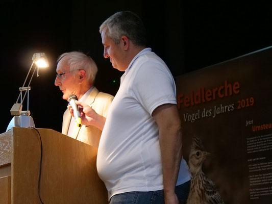unser Ehrenvorsitzende Bruno Christe li. (Foto:NABU-Oberbiel)