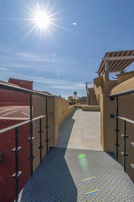 Walkway to Roof Deck