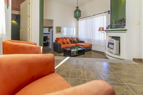 Living Room w/ Gas Heater Fireplace