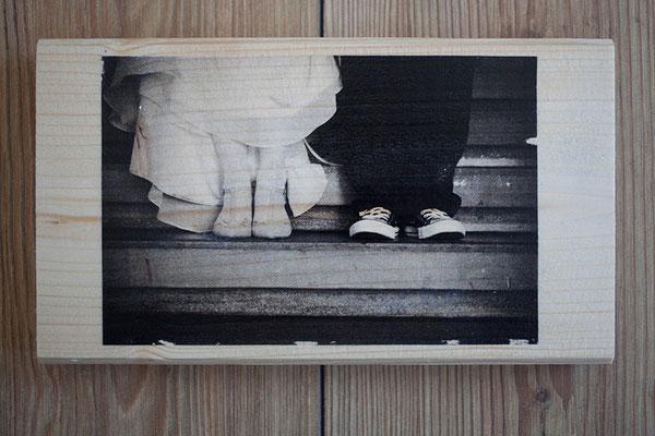 Bild auf Holz - Hochzeit2