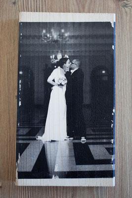 Bild auf Holz - Hochzeit