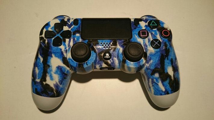Ps4 Controller mit Blau camouflage