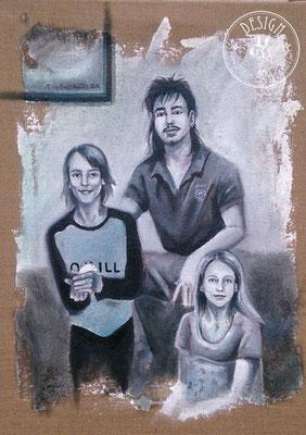 Enkelkinder, 70x50cm; Öl auf Leinwand/ Oel on canvas;  2020