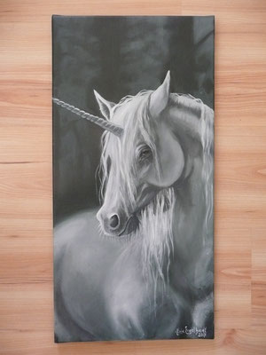 Einhorn; Öl auf Leinwand/ Oel on canvas;2017