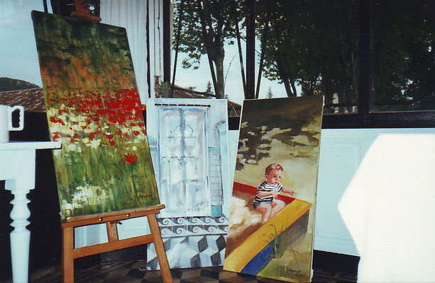 Vertikaler Terror in Lamalou le Bains; Öl auf Leinwand/Oel on canvas; 2001