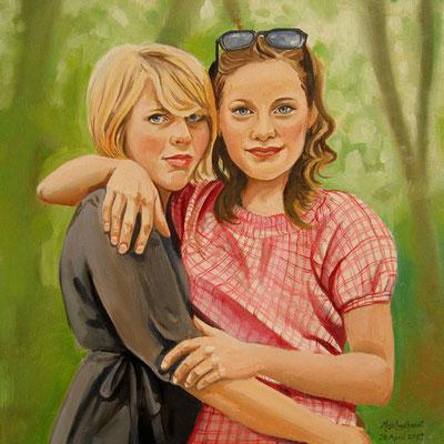 Freundinnen; Öl auf Leinwand/ Oel on canvas; Auftraggeber Client: Wandelt; 2009