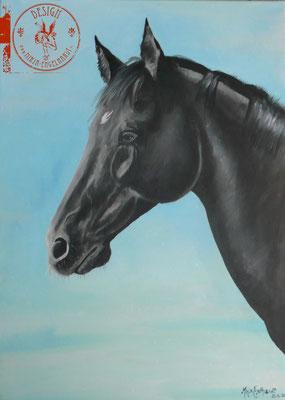 Sancho; Öl auf Leinwand/ Oel on canvas; Auftraggeber Client: Kersten; 2016