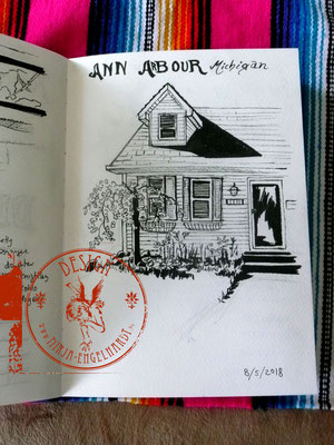 Ann Arbour/Detroit; Skizzenblock/Sketchbook