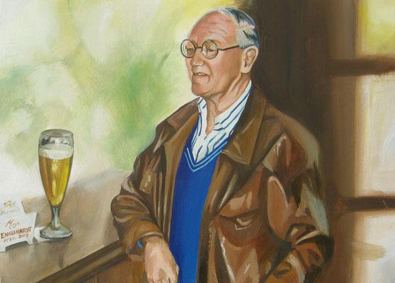 Der Stammgast; Öl auf Leinwand/ Oel on canvas; Auftraggeber Client: Schnelle Quelle; 2008