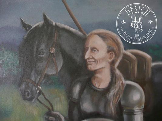 Charles the knight; Öl auf Leinwand/ Oel on canvas; 2017