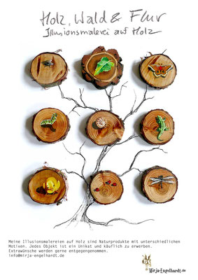 Kunde / Client: Holz, Wald & Flur -  Illusionsmalerei auf Holz