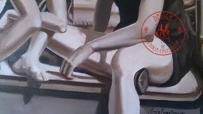 Piratinnen des Ijesselmeeres (Ausschnitt/detail), 70x50cm; Öl auf Leinwand / Oel on canvas; 2021