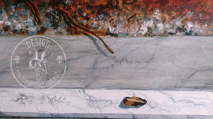 Malerei auf Leinwand (Ausschnitt)/ Painting on canvas (detail); Kunde /Client: D. Schwung