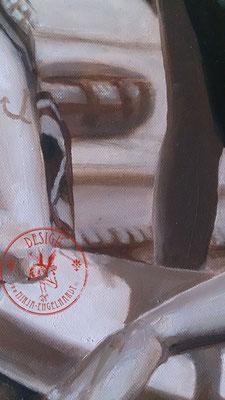 Piratinnen des Ijesselmeeres (Ausschnitt/detail),, 70x50cm; Öl auf Leinwand / Oel on canvas; 2021
