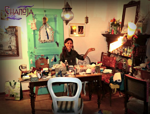 Me at Arianes house - what a beautiful creative space!