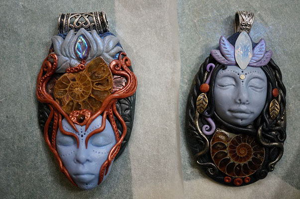 Raw and unfired Lucid Dream Goddesses.