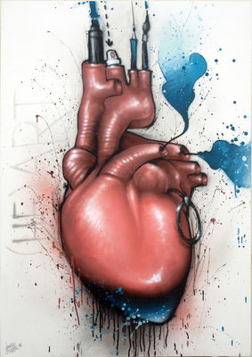HURT - Jean Rooble - Spraypaint on canvas - 116 x 81 cm (2014)