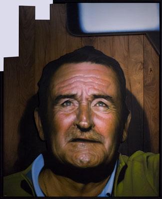 SELFIE - Jean Rooble - Wood & spraypaint on mdf - 150 x 122 cm (2018)